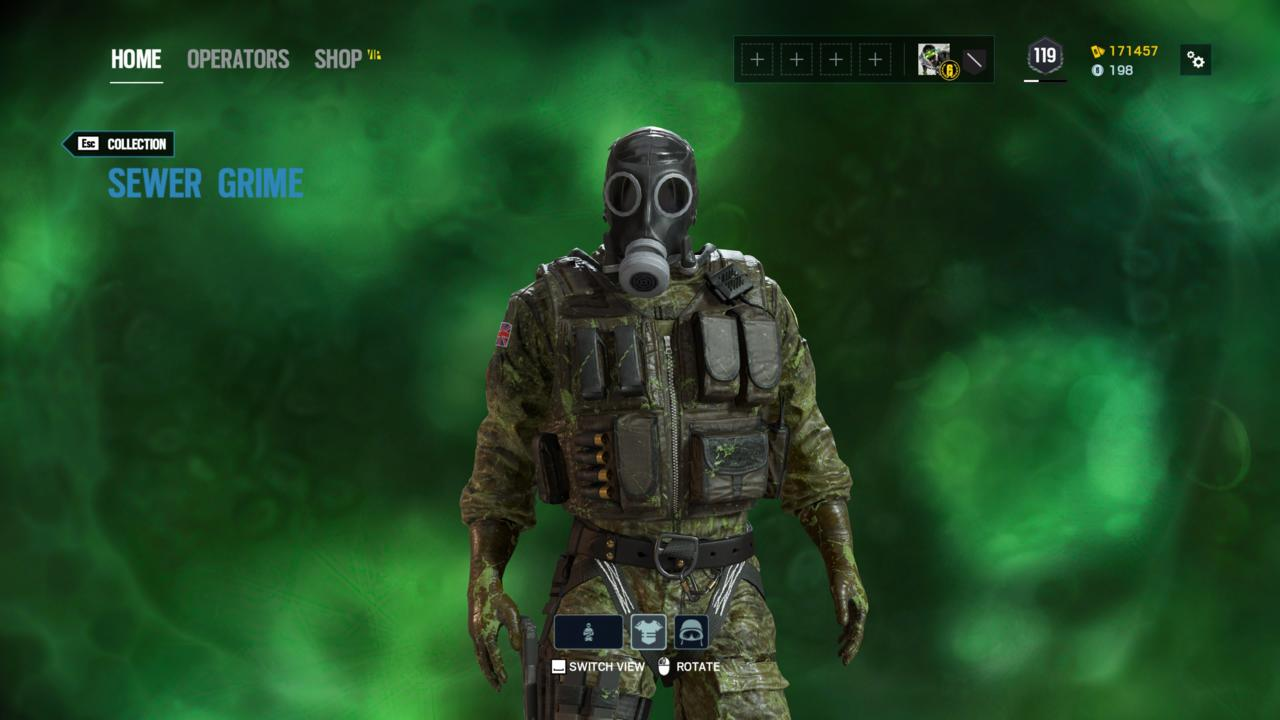 Operator: Smoke - Sewer Grime (Outfit)