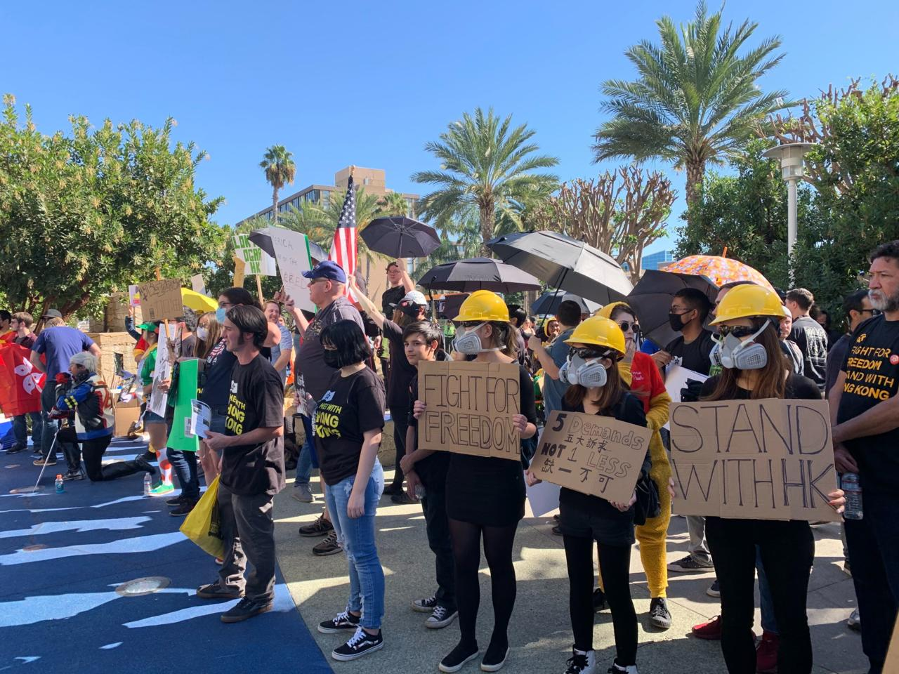 The Freedom Hong Kong protest outside BlizzCon 2019.