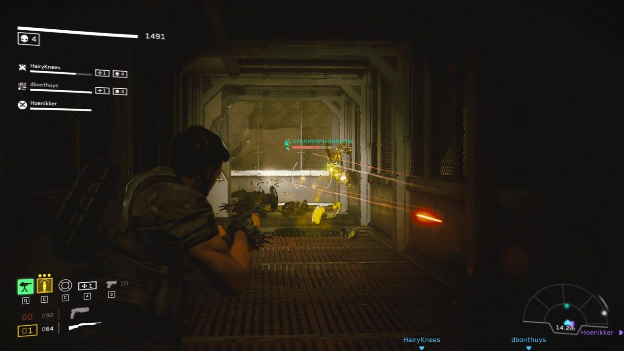 Aliens: Fireteam Elite adds a variety of different Xenomorphs variants, such as the Burster-type that explodes when it gets close enough to your squad.