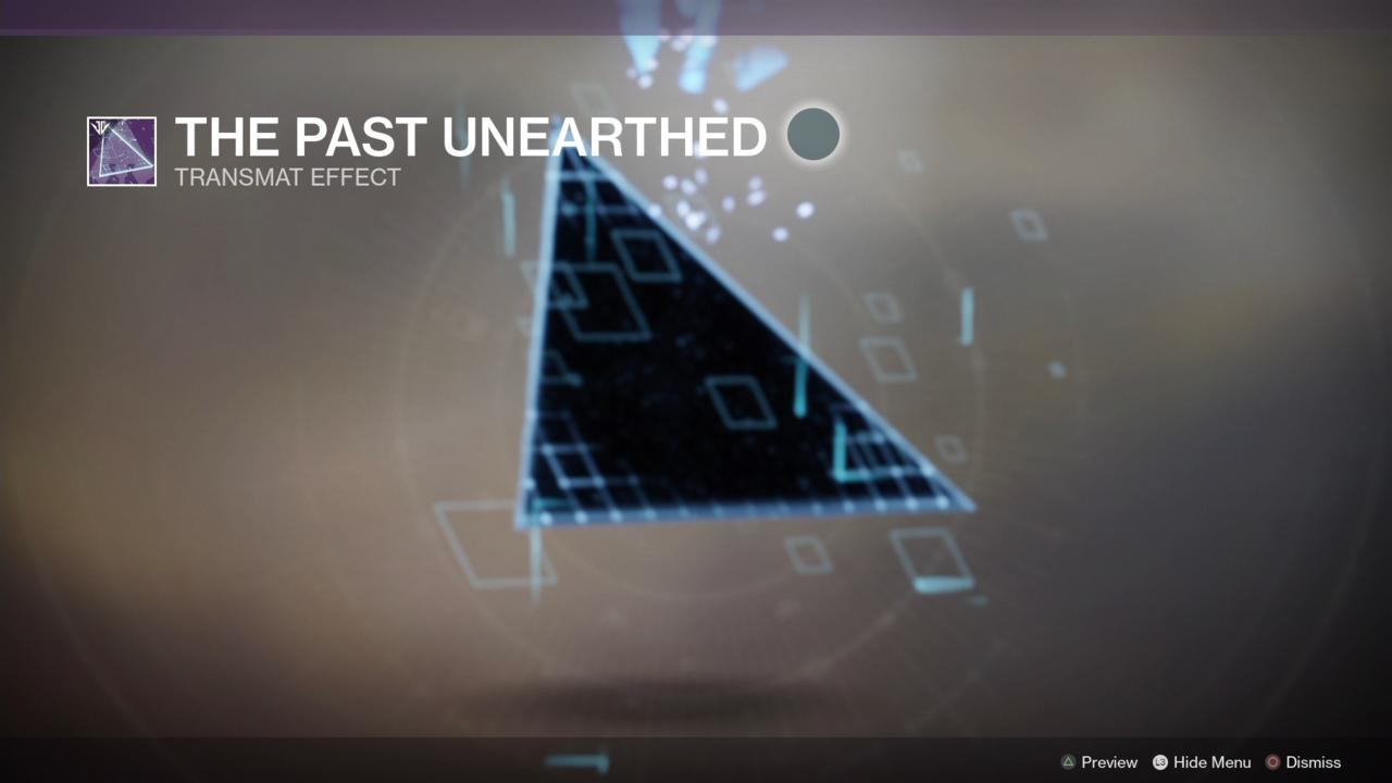 The Past Unearthed Transmat Effect