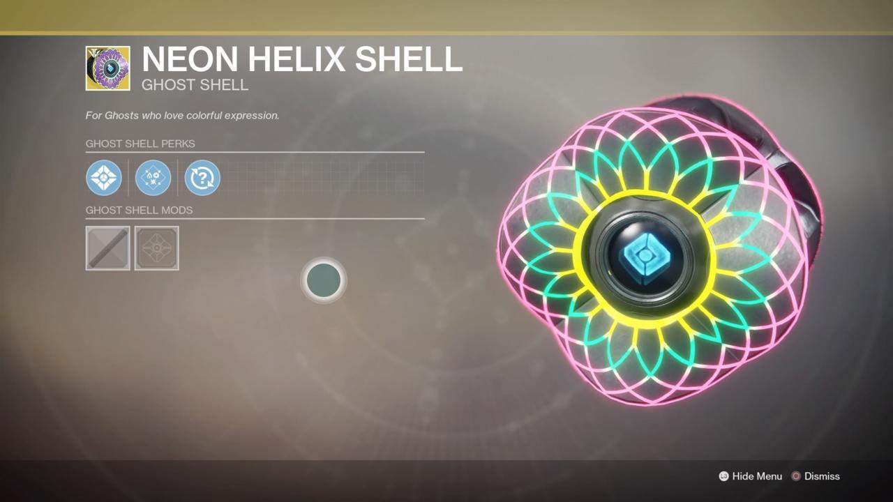 Neon Helix Shell
