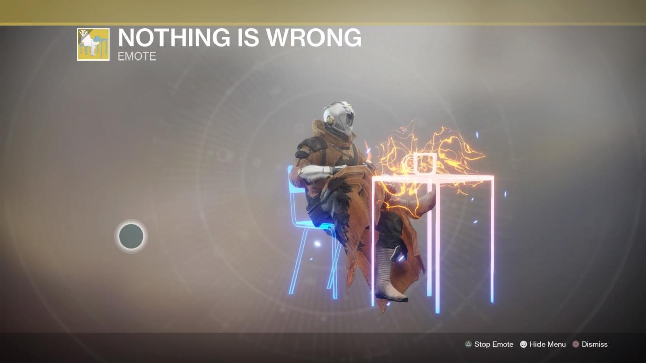 Nothing Is Wrong Emote