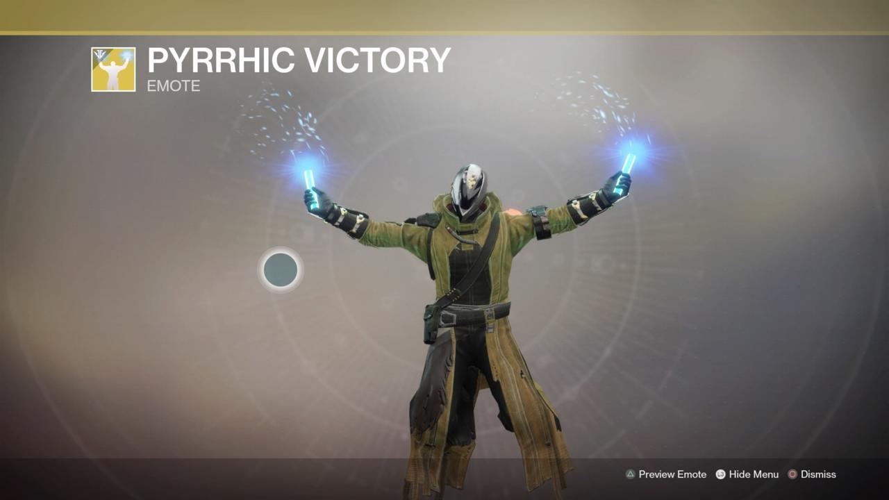 Pyrrhic Victory Emote