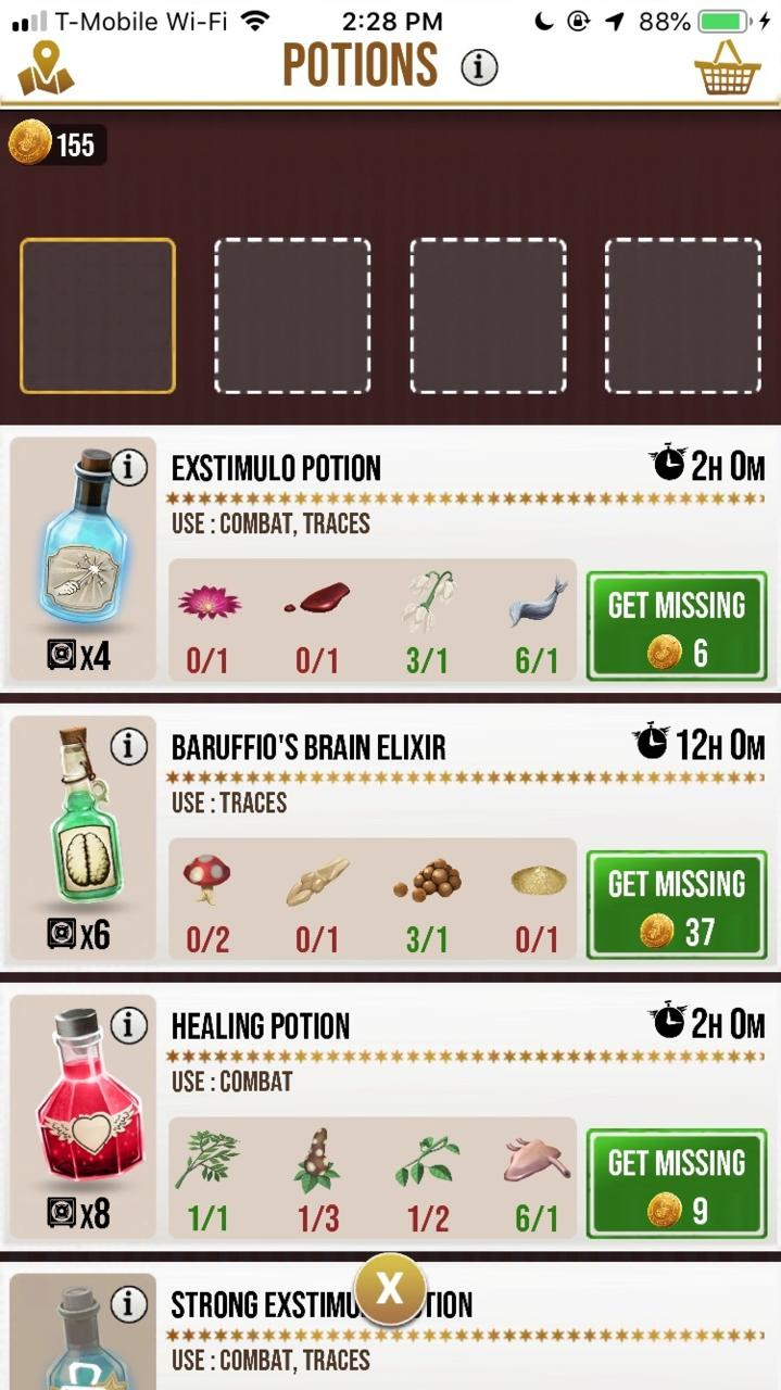 Potions -- Power Up Your Spells