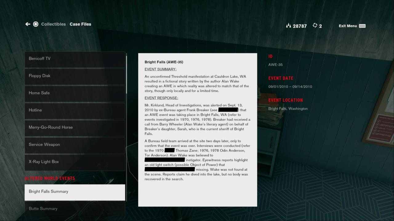 Alan Wake's Story Was An Altered World Event