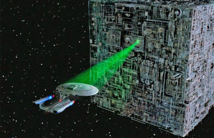2. Caught In A Borg Tractor Beam