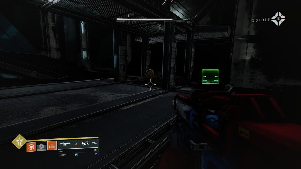 The last item is easy to miss in the final room of the Glykon. Drop down from the vent, go beneath the catwalk in the center of the room, and then check behind you against the far wall, opposite the dead Guardian.