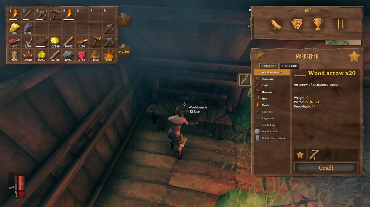 Valheim Workbench Upgrades How To Enhance Your Crafting Station To Level 5 Gamespot
