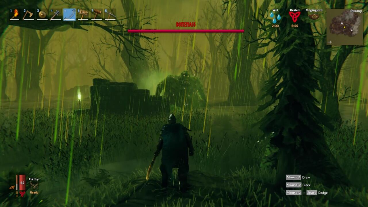 You'll need the Wishbone in order to find Silver, which you can only obtain by beating the Swamp boss Bonemass.