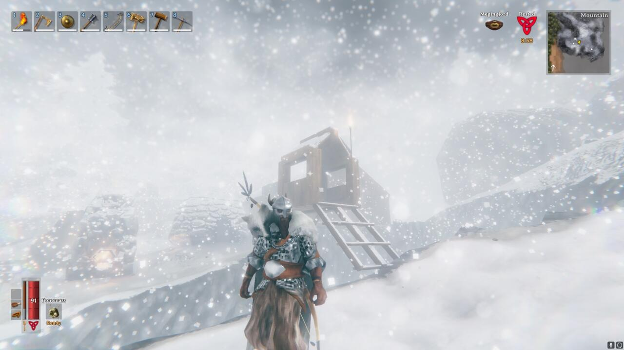 A full set of Silver armor gives you a lot of protection, while making you immune to the lethal effects of the cold.