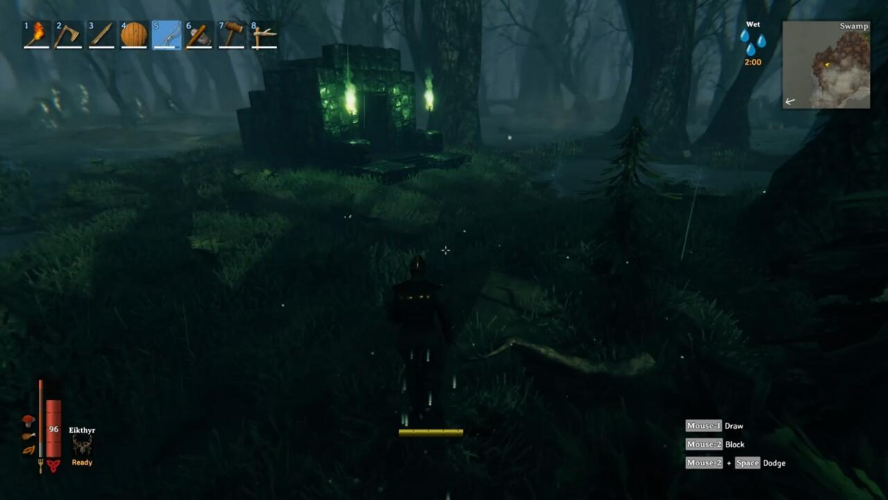 Look for Sunken Crypts in Swamps and make note of their locations, because they're full of useful resources--Scrap Iron most of all.