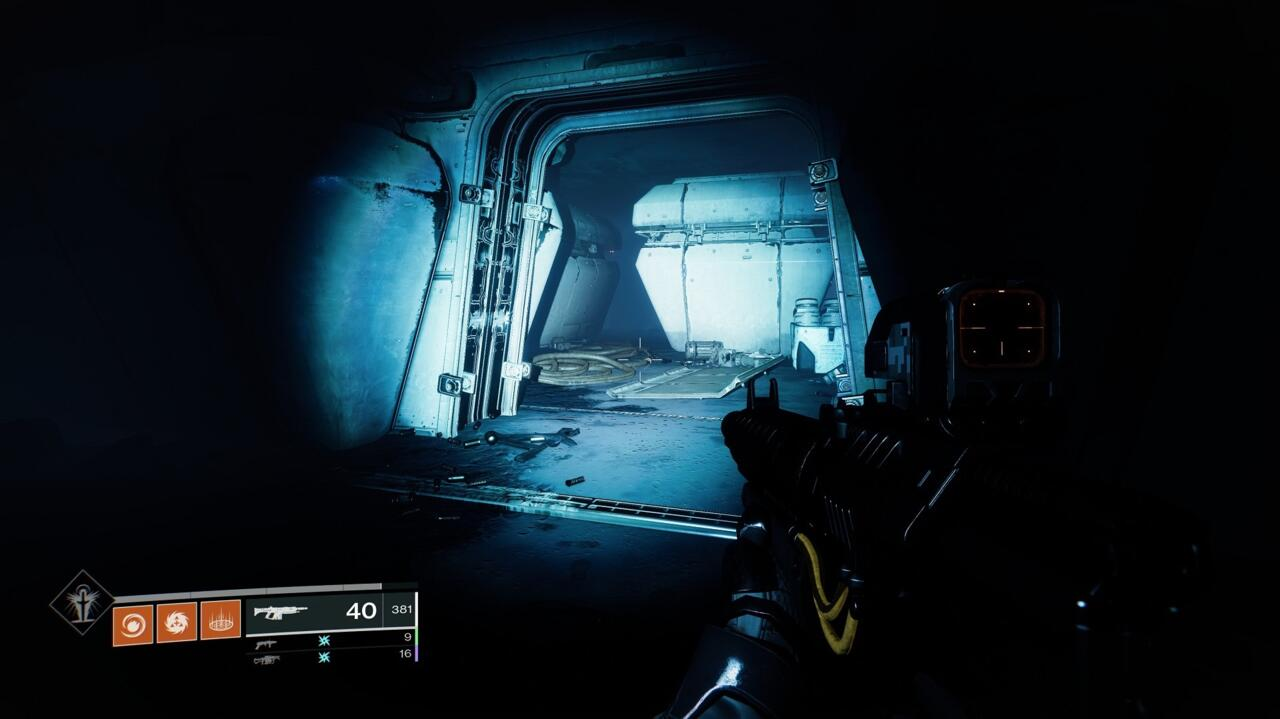 Look for this doorway on your left just before you jump over the Turbine for the second time, in the room with the electrical barriers.