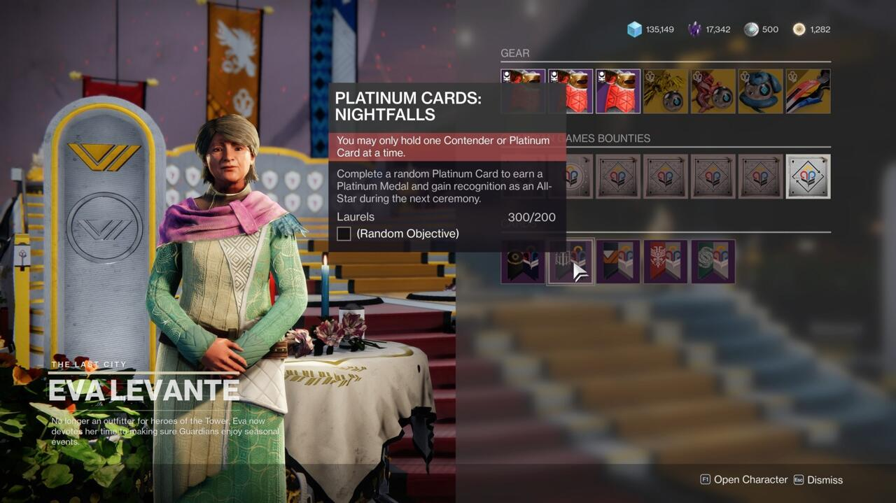 Contender Cards allow you to earn medals for the Guardian Games, but you only have to do one to advance the quest.