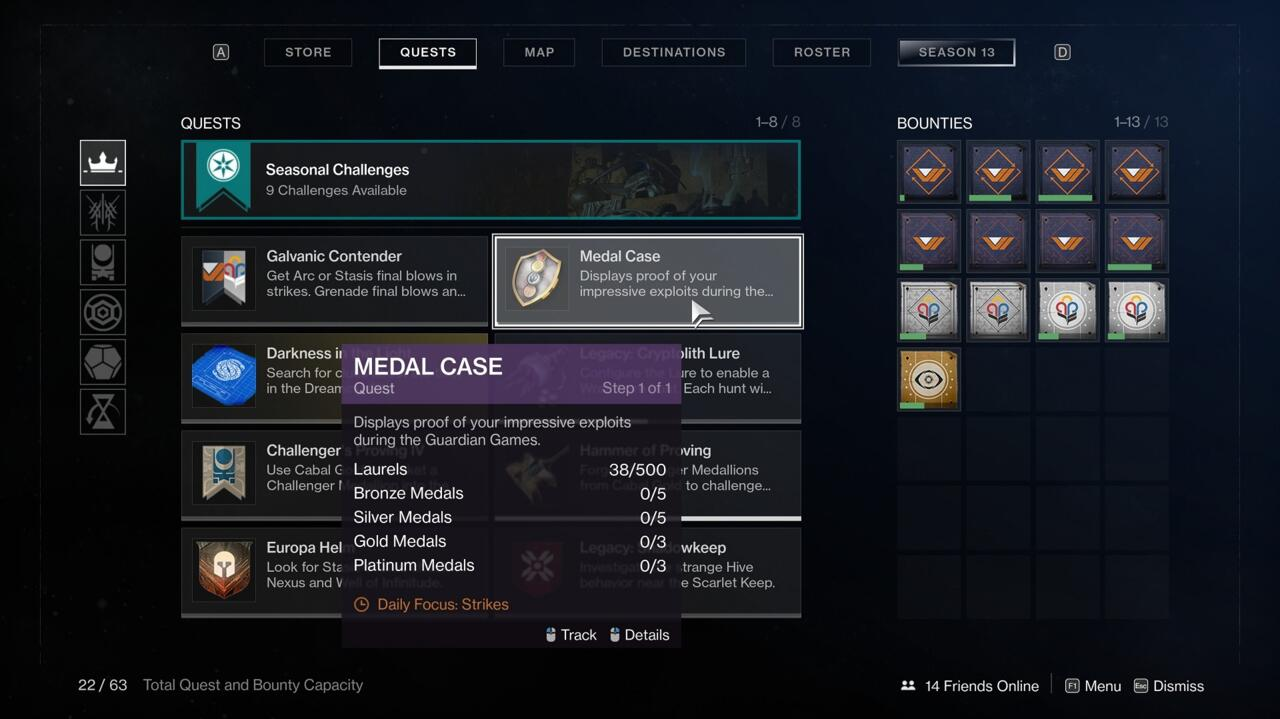 Use the Medal Case to quickly see what the Daily Focus playlist is.