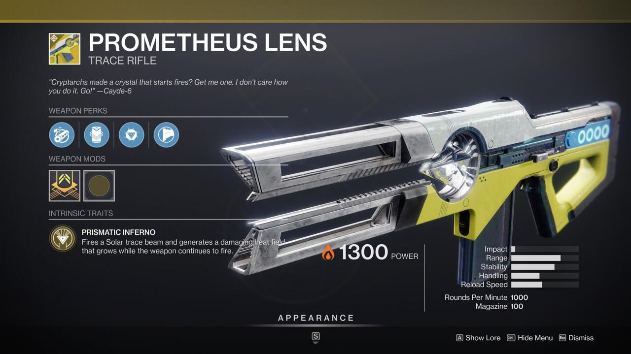 Prometheus Lens does serious damage if you can hold the beam on a target over time.