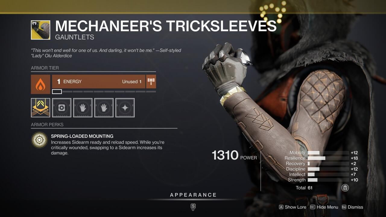 Mechaneer's Tricksleeves make your sidearms all the mower powerful, especially under dire circumstances.