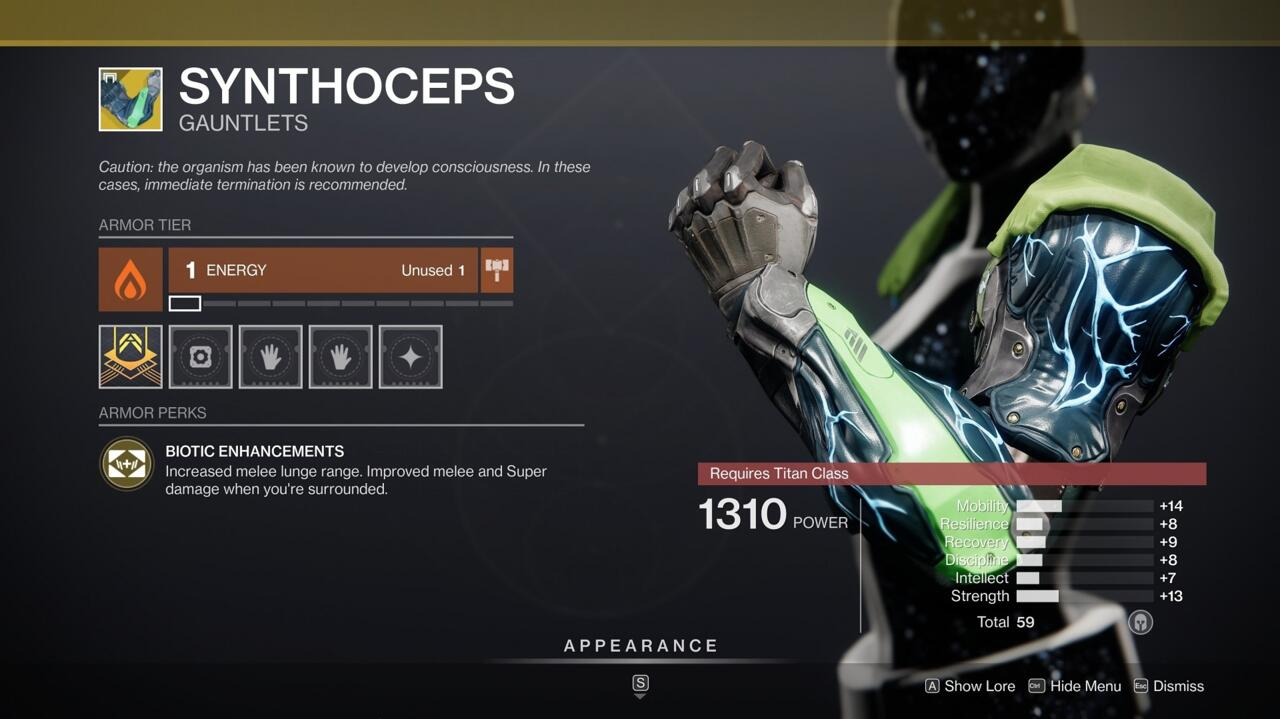 Synthoceps make it even easier for Titans to punch their way out of bad situations.