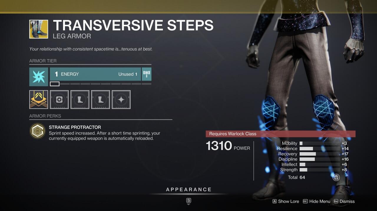 Run faster to get yourself out of danger and reload more quickly to help with emergencies with Transversive Steps.