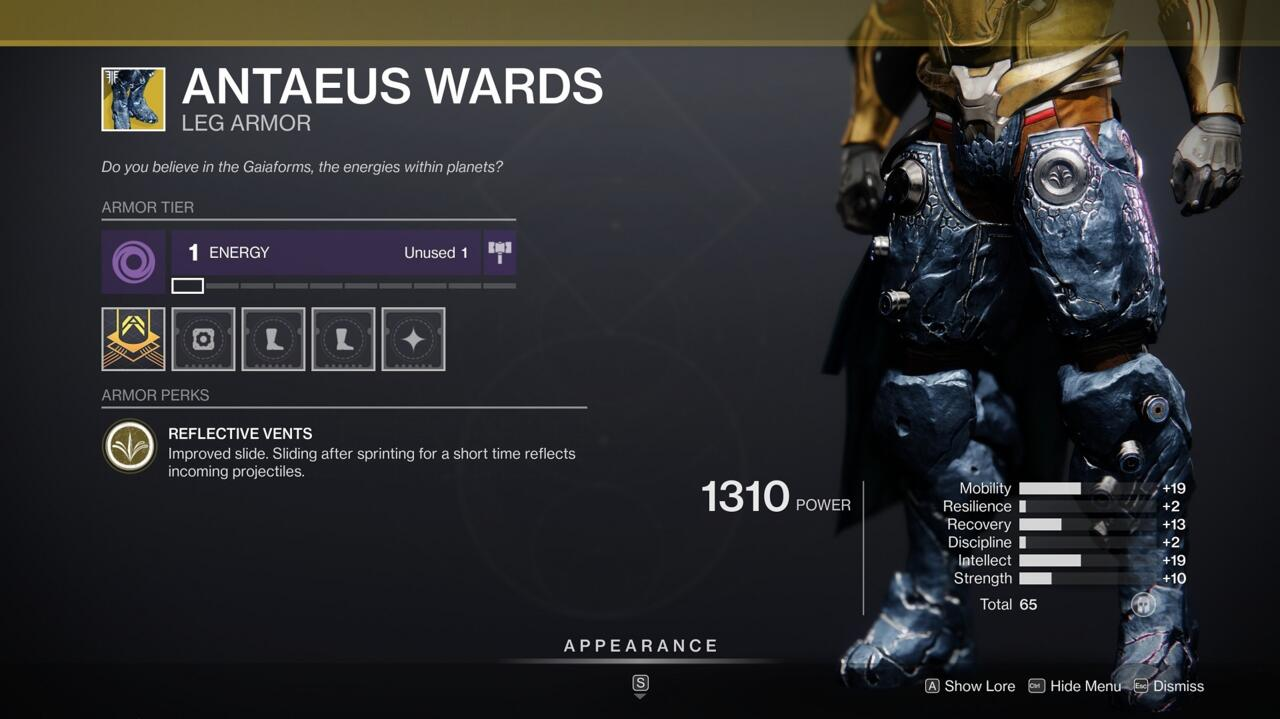 Titans who love to slide can turn enemy weapons against their wielders with Antaeus Wards.