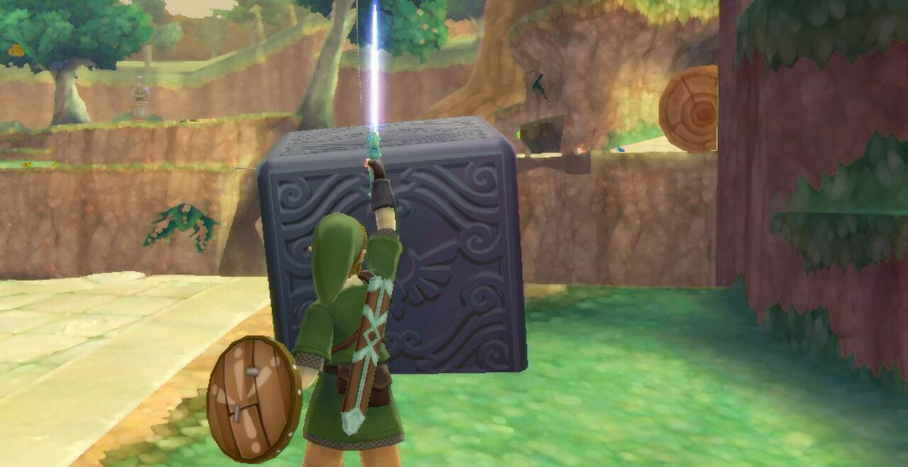 Seek out Goddess Cubes and the treasure chests they unlock in Skyloft to earn great upgrades and a whole lot of Rupees.