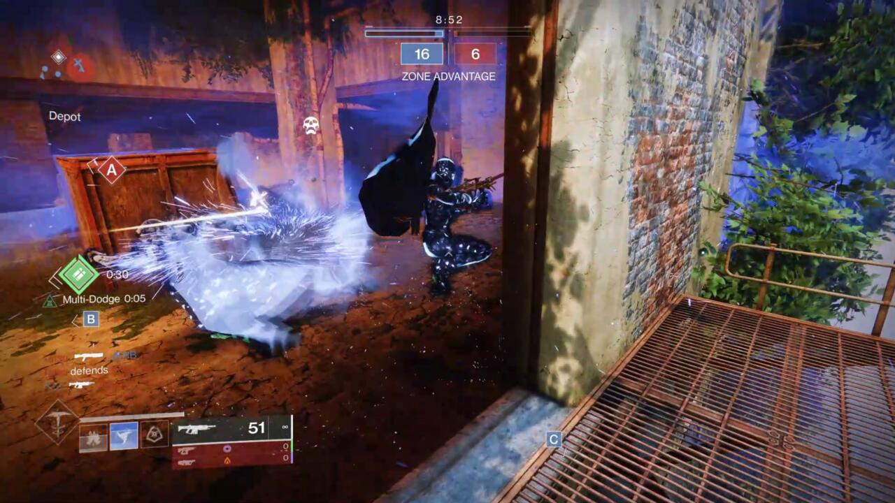 Pair the Multi-Dodge ability from Radiant Dance Machines with mods like Dynamo and the Winter's Shroud Stasis Aspect to become ludicrously powerful.