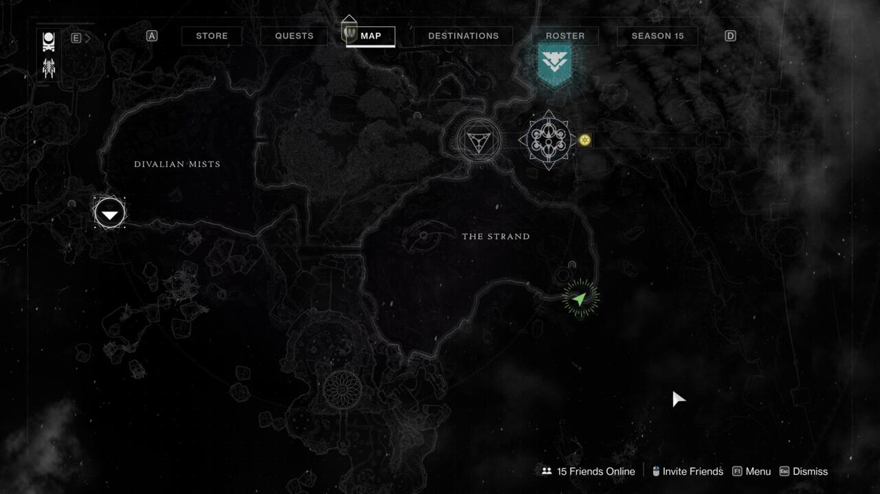 The gazebo mentioned in this clue is in the eastern corner of The Strand, near the Aphelion's Rest Lost Sector. This is where Petra sometimes waits for you during the Dreaming City's three-week cycle.