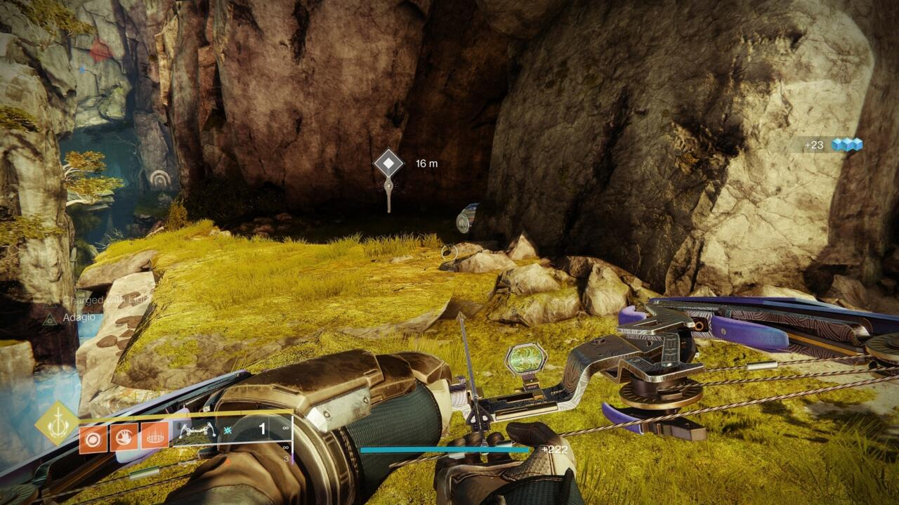 Drop down near the Lost Sector entrance in Rheasilvia to find this Atlas Skew.