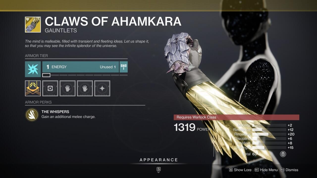 Throw more fireballs and disintegrate more enemies with your melee ability when wearing the Claws of Ahamkara.