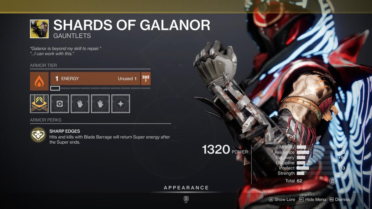 Get your Blade Barrage Super back more quickly with Shards of Galanor.