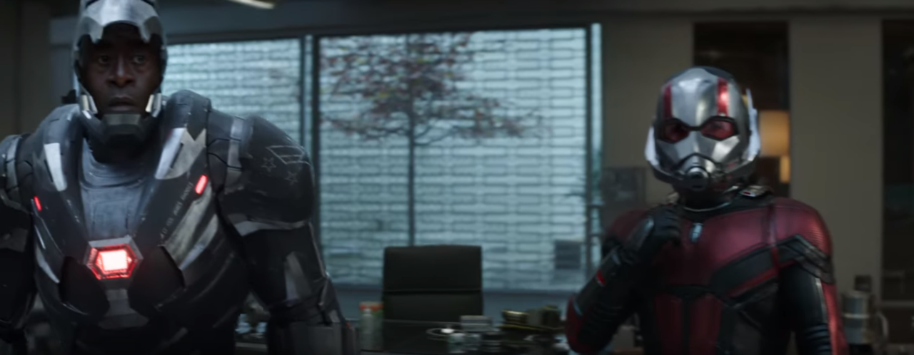 War Machine and Ant-Man Suiting Up