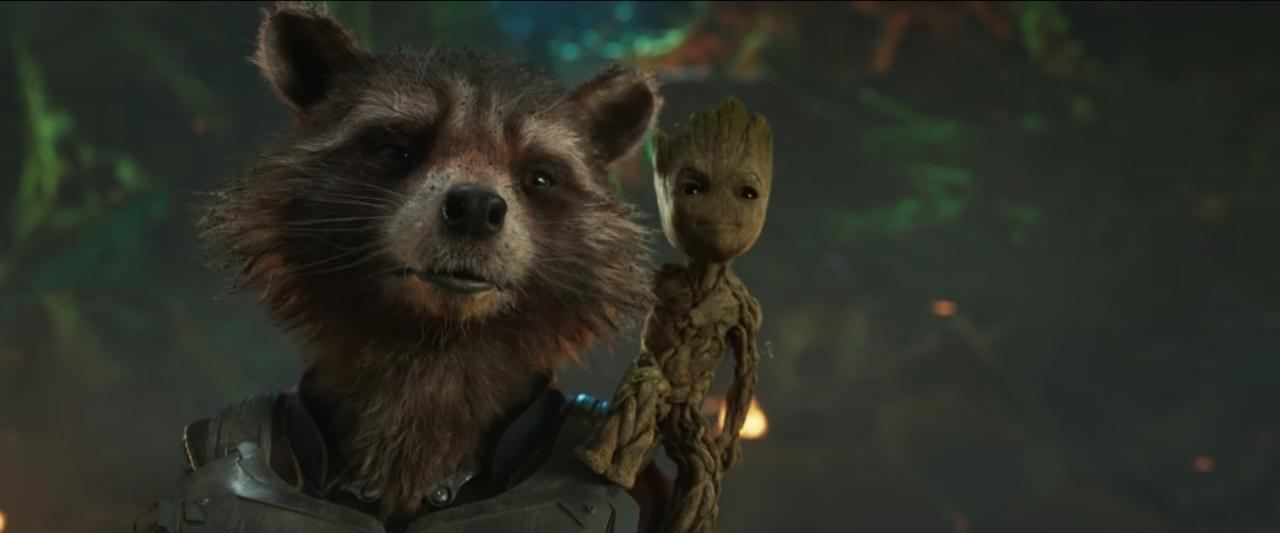 12. Rocket and Groot's Bromance