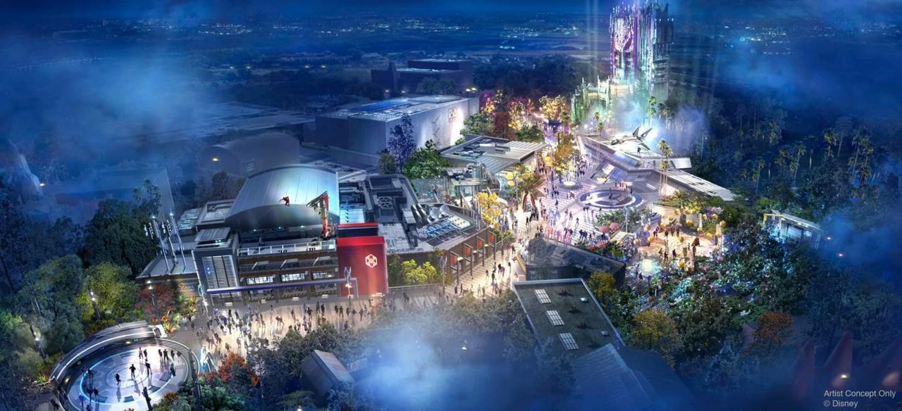 The new Marvel-based theme park land is coming to Disney's California Adventure in Anaheim, as well as Disneyland Paris.