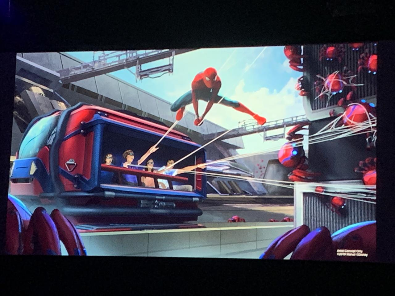 There's a Spider-Man ride