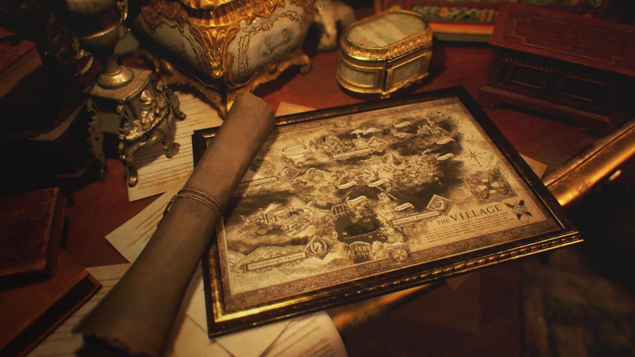 Resident Evil Village in-game map