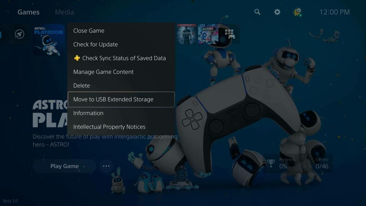 PS5 games can now be moved to external storage devices