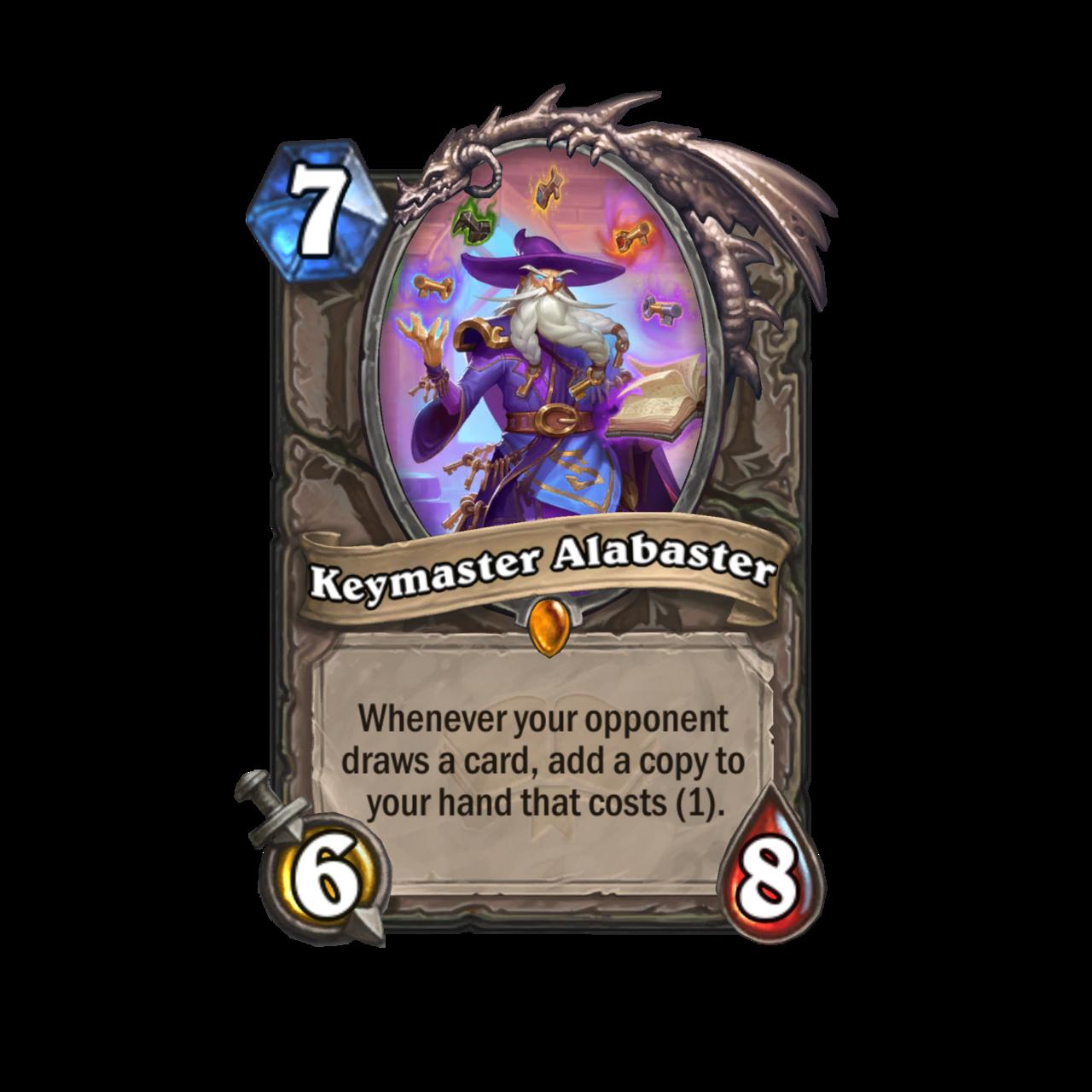 Keymaster Alabaster - Neutral Legendary for Hearthstone: Scholomance Academy
