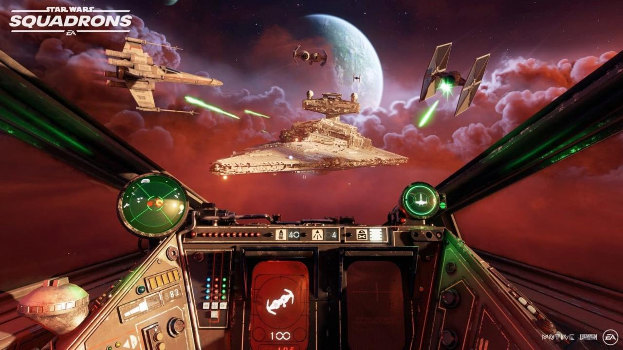 Each starfighter sports a slightly different control layout.
