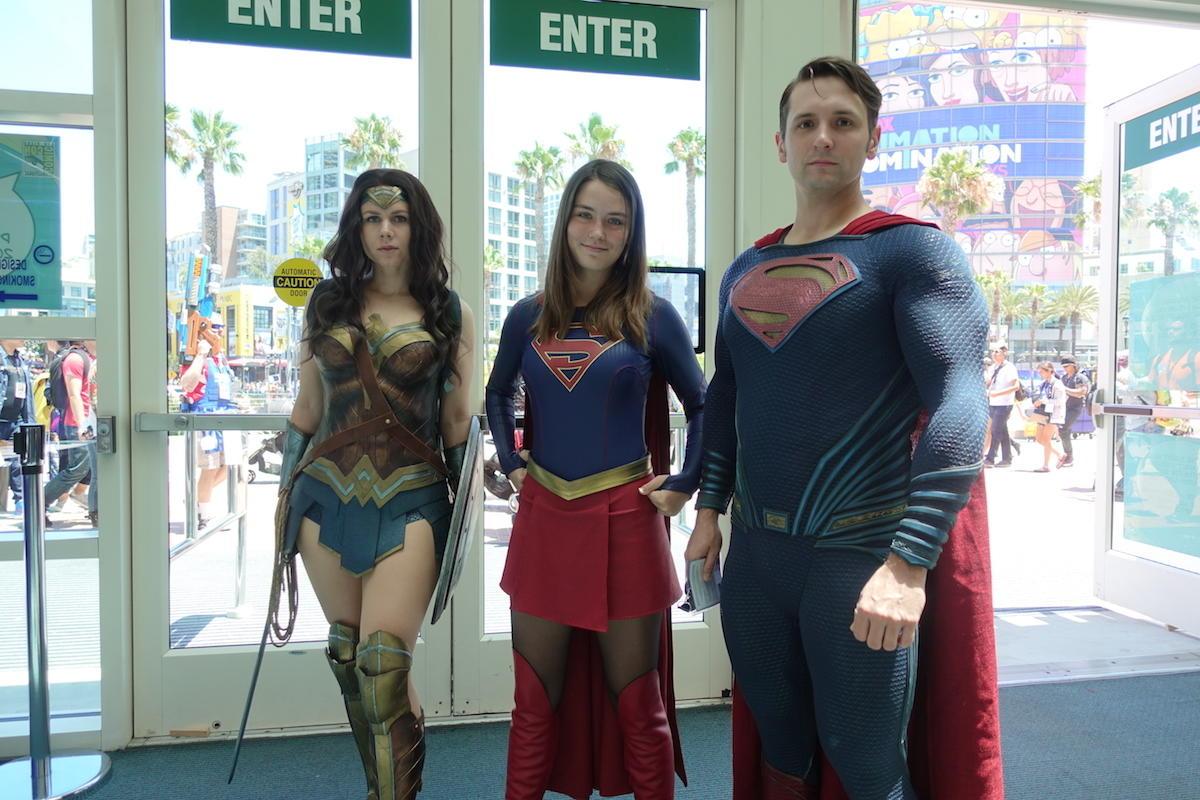 Wonder Woman, Supergirl, And Superman