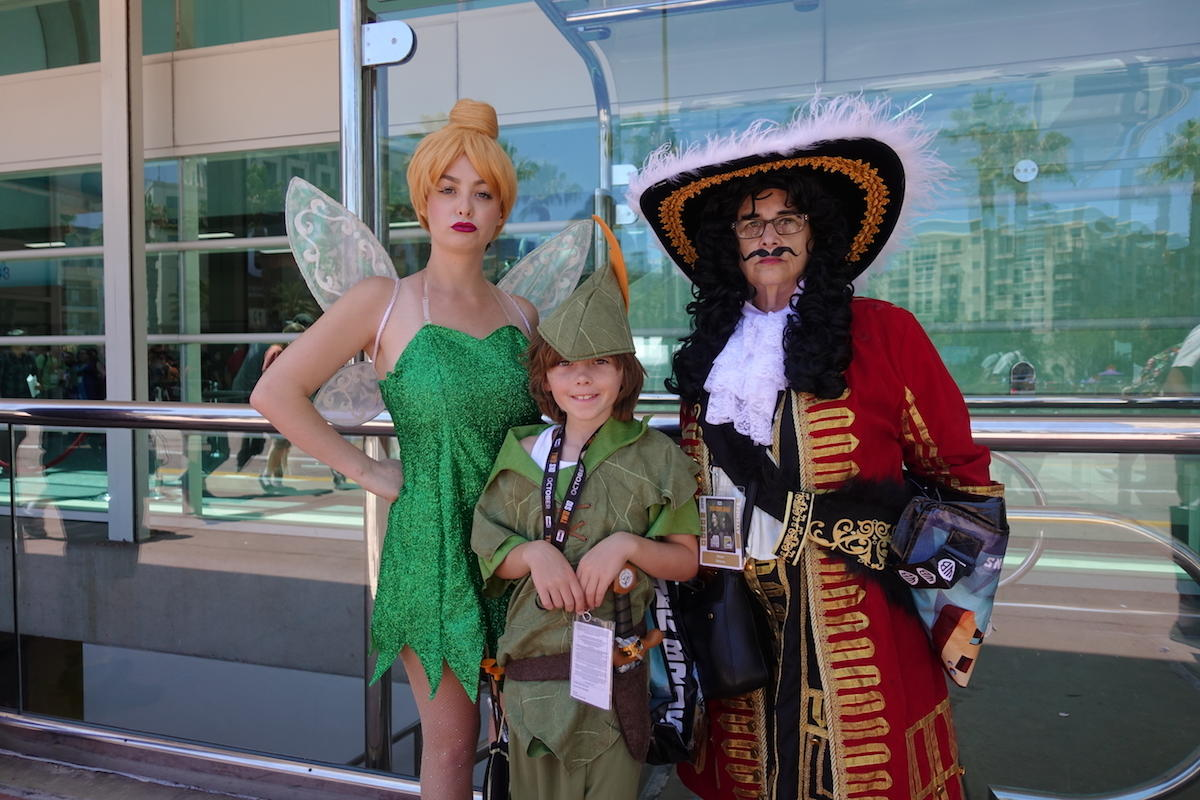 Tinker Bell, Peter Pan, And Captain Hook
