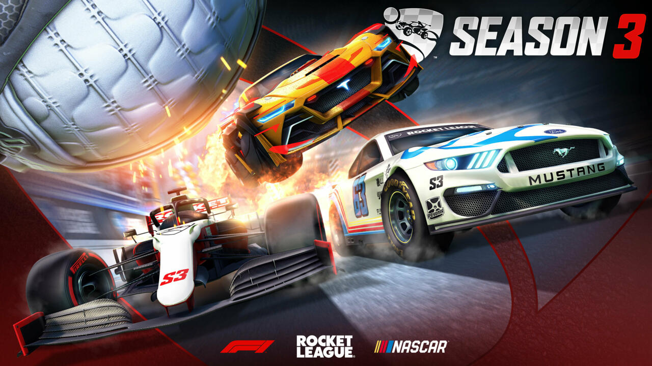 Season 3's battle cars are all themed around auto racing, with the F1 and NASCAR contained in bundles and the Tyranno unlocked via the battle pass.