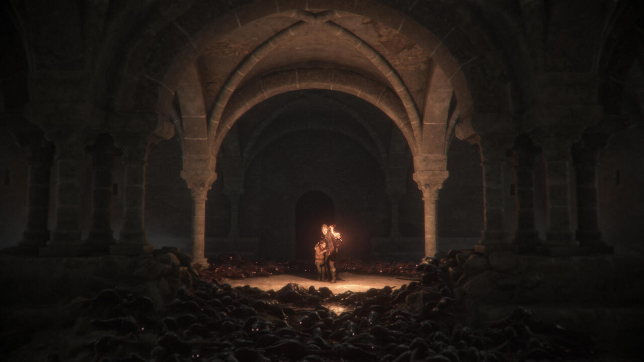 When playing on Switch in handheld, it can be difficult to see where you're going or what you have to do next in A Plague Tale's darker moments.