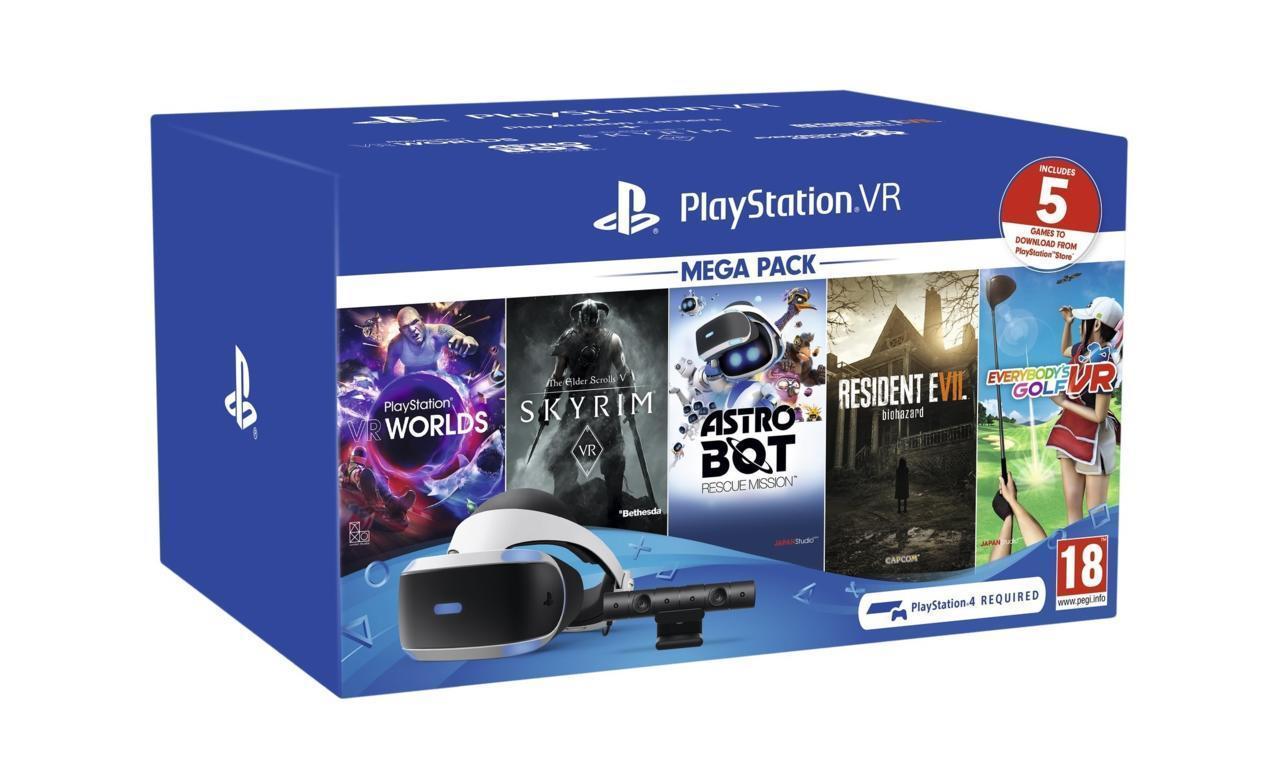 PlayStation VR Mega Pack with five games   $299