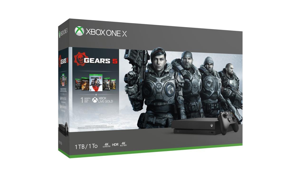 Xbox One X (1TB) with Gears 1-5   $349