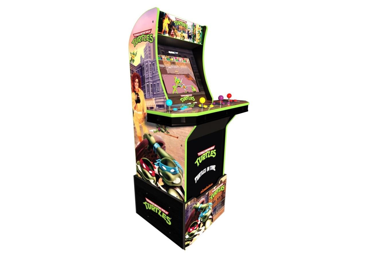 Arcade 1Up Teenage Mutant Ninja Turtles Arcade Machine with riser   $349