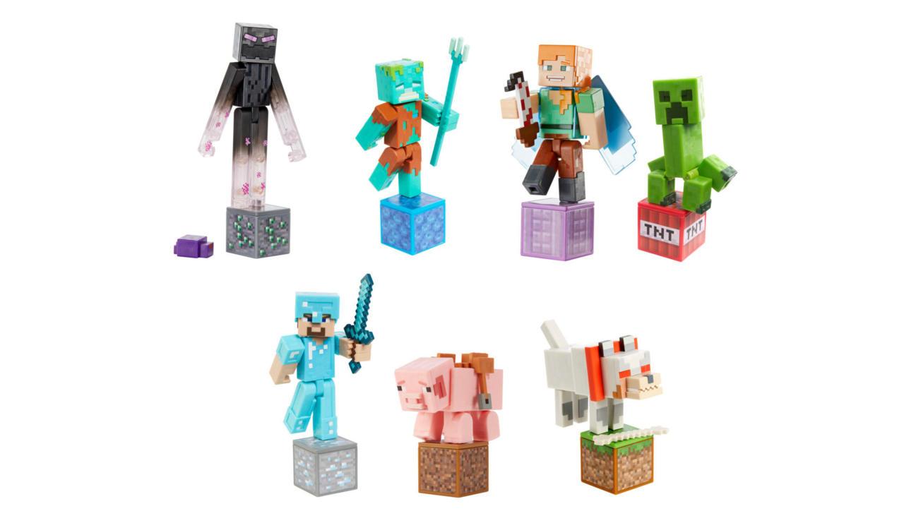 Minecraft Comic Mode action figures
