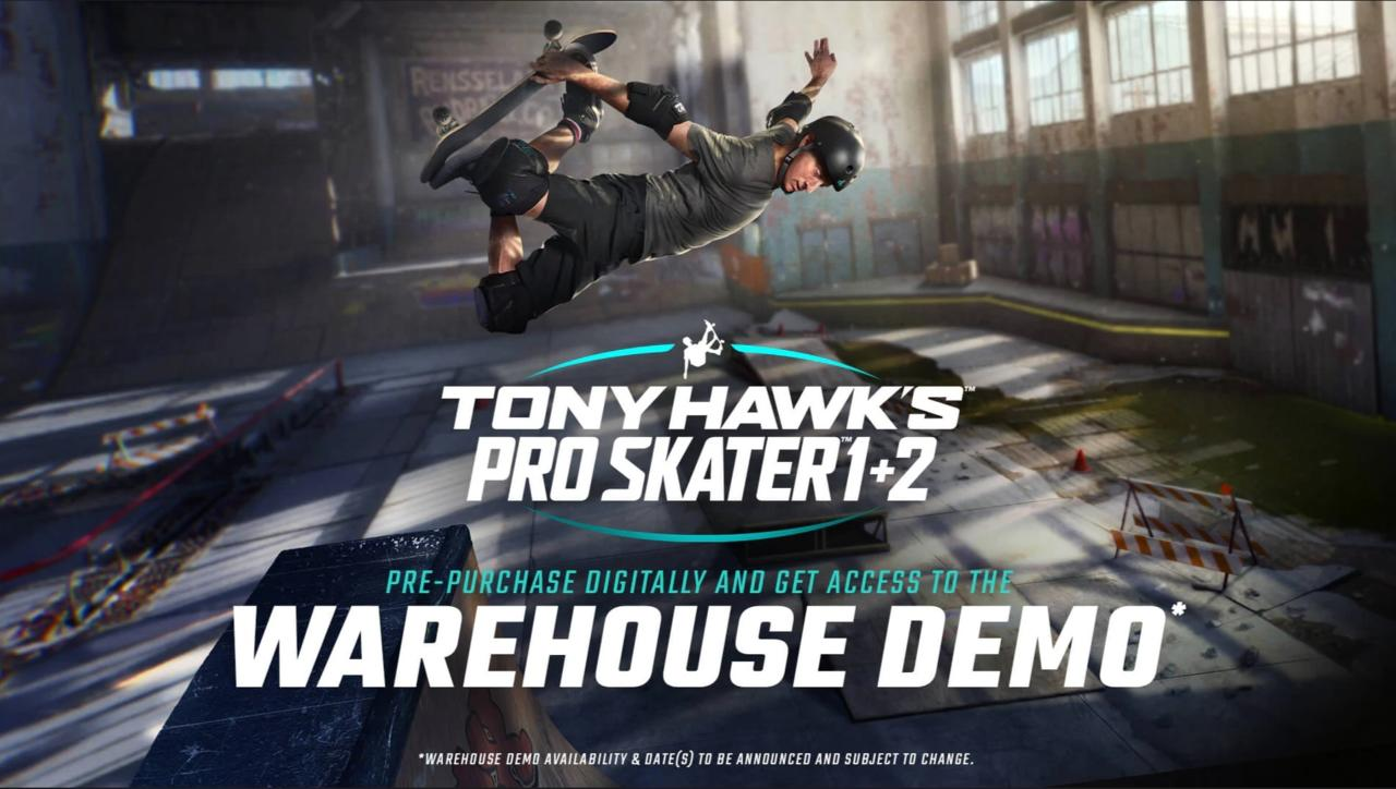 Tony Hawk's Pro Skater 1 + 2 pre-order bonus