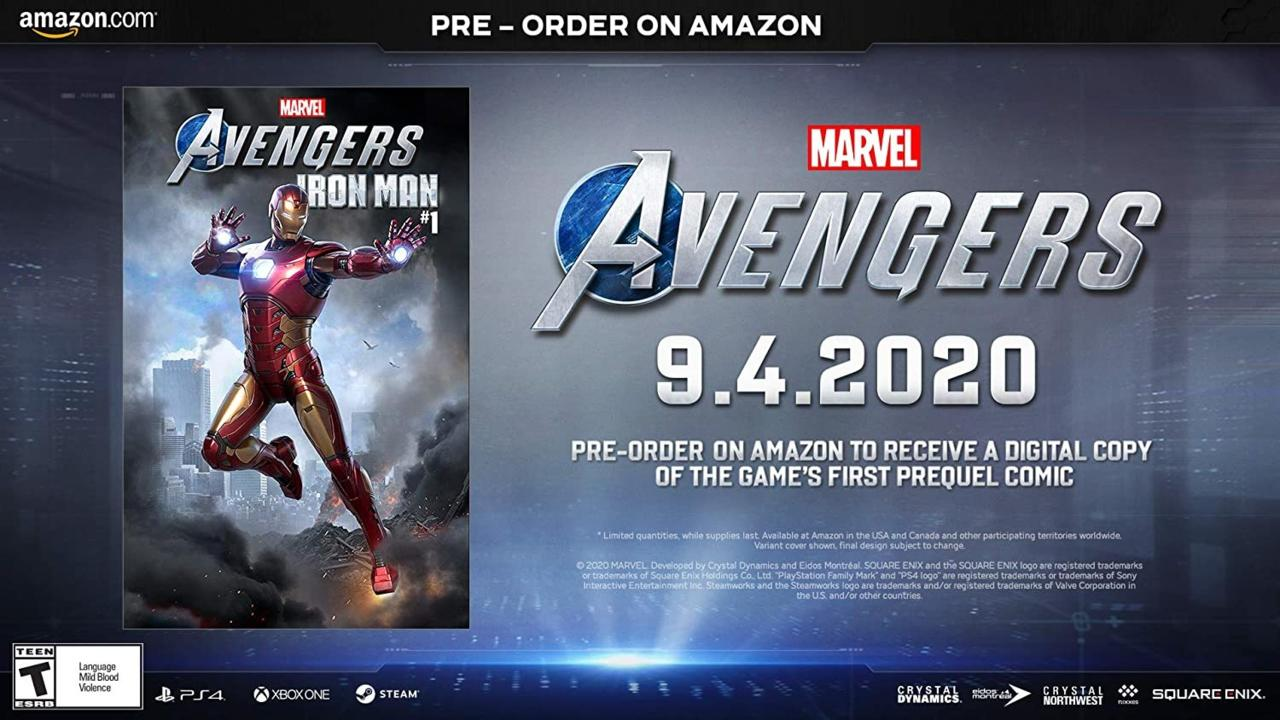 Digital copy of the first prequel comic for Marvel's Avengers