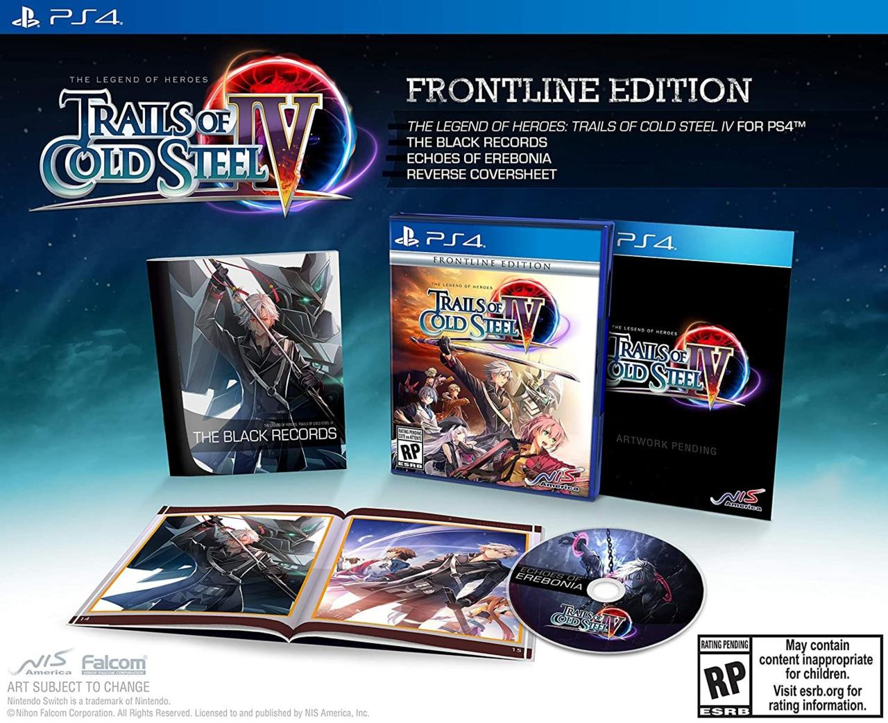 Trails of Cold Steel IV's Frontline edition is available for $60.