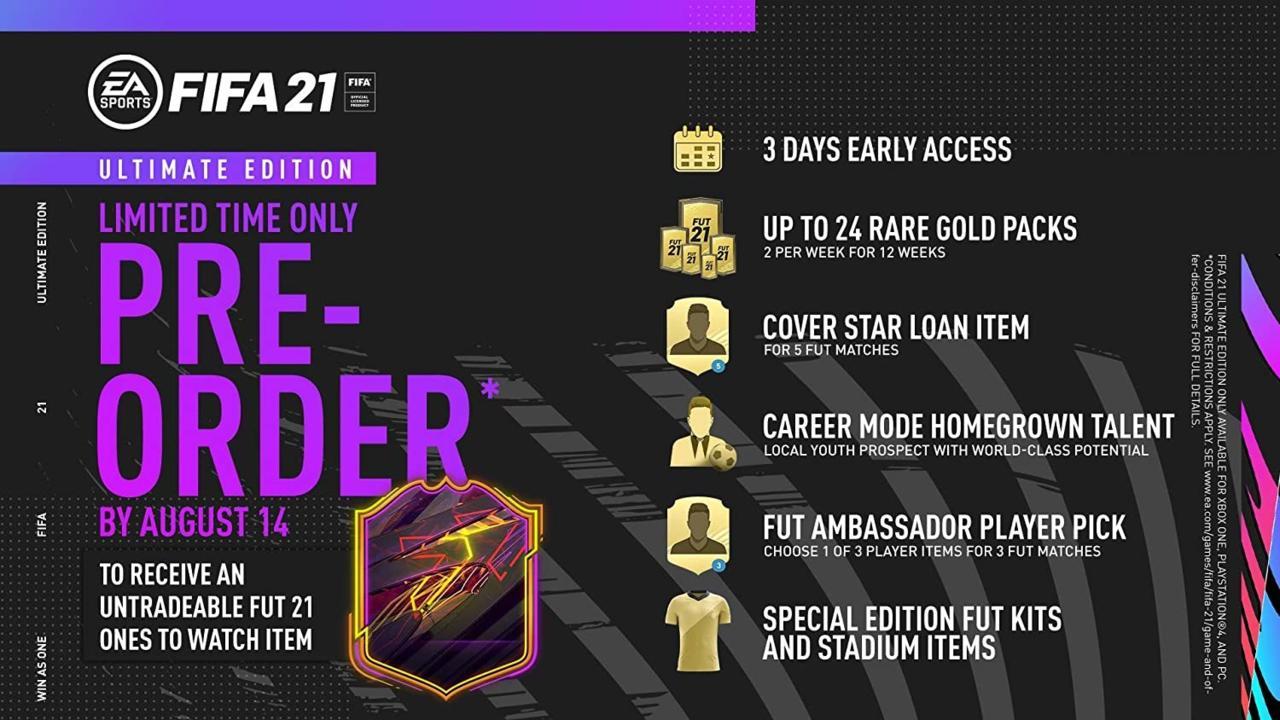 FIFA 21 Ultimate edition - $100