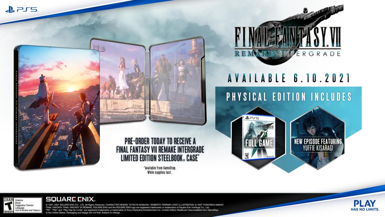 FF7 Remake: Intergrade preorder bonus at GameStop